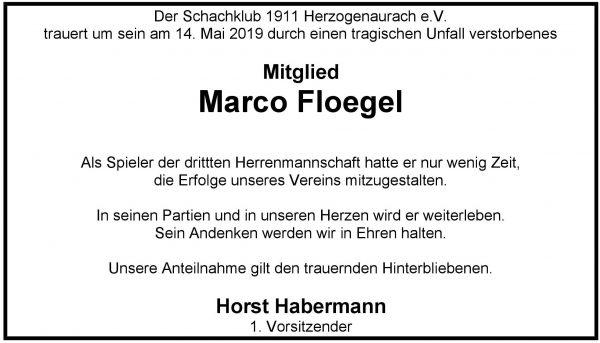Nachruf auf Marco Floegel
